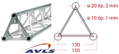ASD Structure triangulaire 150 alu 0,25 m