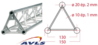 ASD Structure triangulaire 150 alu 0,7 m