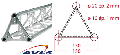 ASD Structure triangulaire 150 alu 1 m