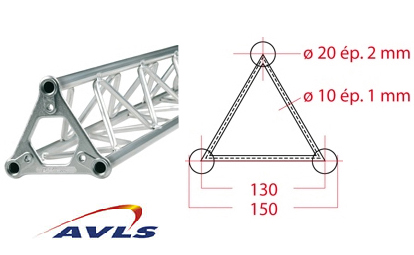 ASD Structure triangulaire 150 alu 2,5 m