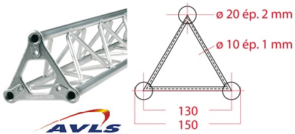 ASD Structure triangulaire 150 alu 2 m