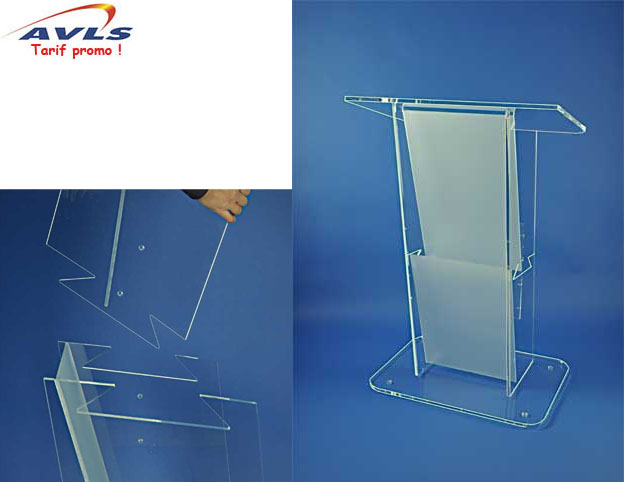 AVLS Pupitre plexiglas demontable