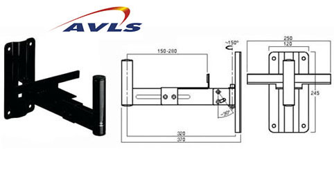 AVLS Support enceinte orientable