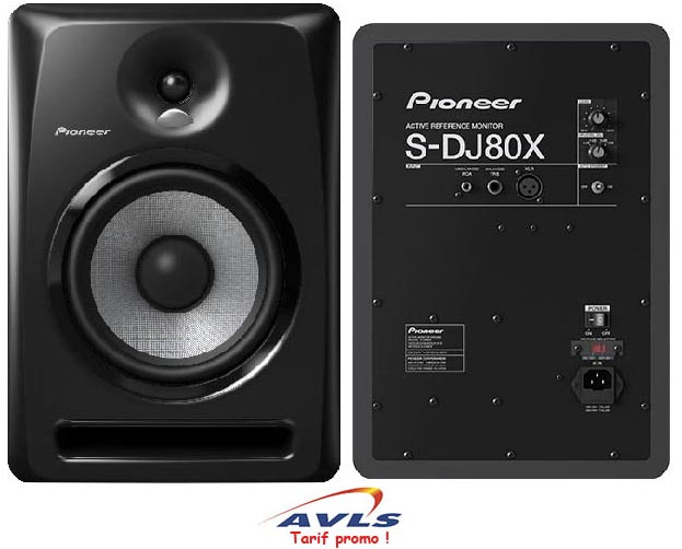 enceinte monitoring active pioneer s dj80x 160 w 2. Black Bedroom Furniture Sets. Home Design Ideas