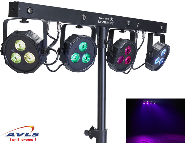 jeux de lumiere contest liveset leds 12 leds dmx pas cher en vente a prix discount sur le. Black Bedroom Furniture Sets. Home Design Ideas