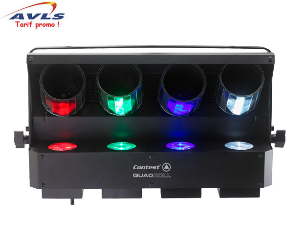 jeux de lumiere contest quadroll leds 4 leds x 8 w dmx pas cher en vente a prix discount. Black Bedroom Furniture Sets. Home Design Ideas