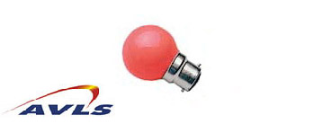 LAMPE SPHERIQUE 15 w rouge