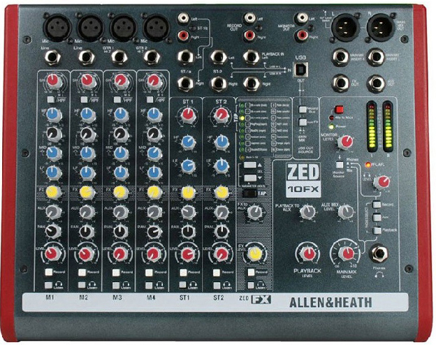 Location mixage Allen Heath ZED10FX