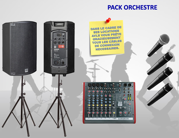 Location pack orchestre