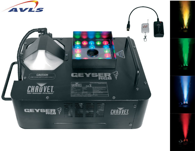 machine a fumee chauvet geyser 1500 w dmx avec commande sans fil pas cher en vente a prix. Black Bedroom Furniture Sets. Home Design Ideas