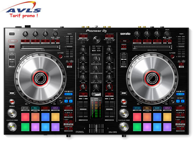 pioneer ddj sr2 double controleur dj natif serato pas. Black Bedroom Furniture Sets. Home Design Ideas