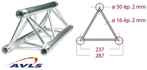 Structure triangle alu ASD Structure triangulaire 0,5 m