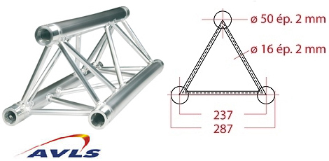Structure triangle alu ASD Structure triangulaire 0,71 m