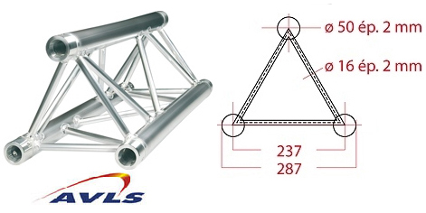 Structure triangle alu ASD Structure triangulaire 1,5 m