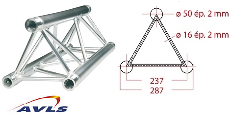 Structure triangle alu ASD Structure triangulaire 290 alu 0,29 m
