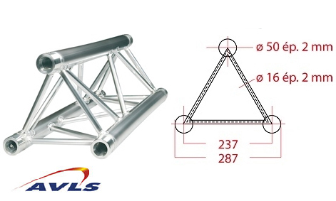Structure triangle alu ASD Structure triangulaire 3,5 m